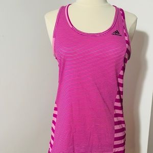 Adidas climate tank top pink strip XS